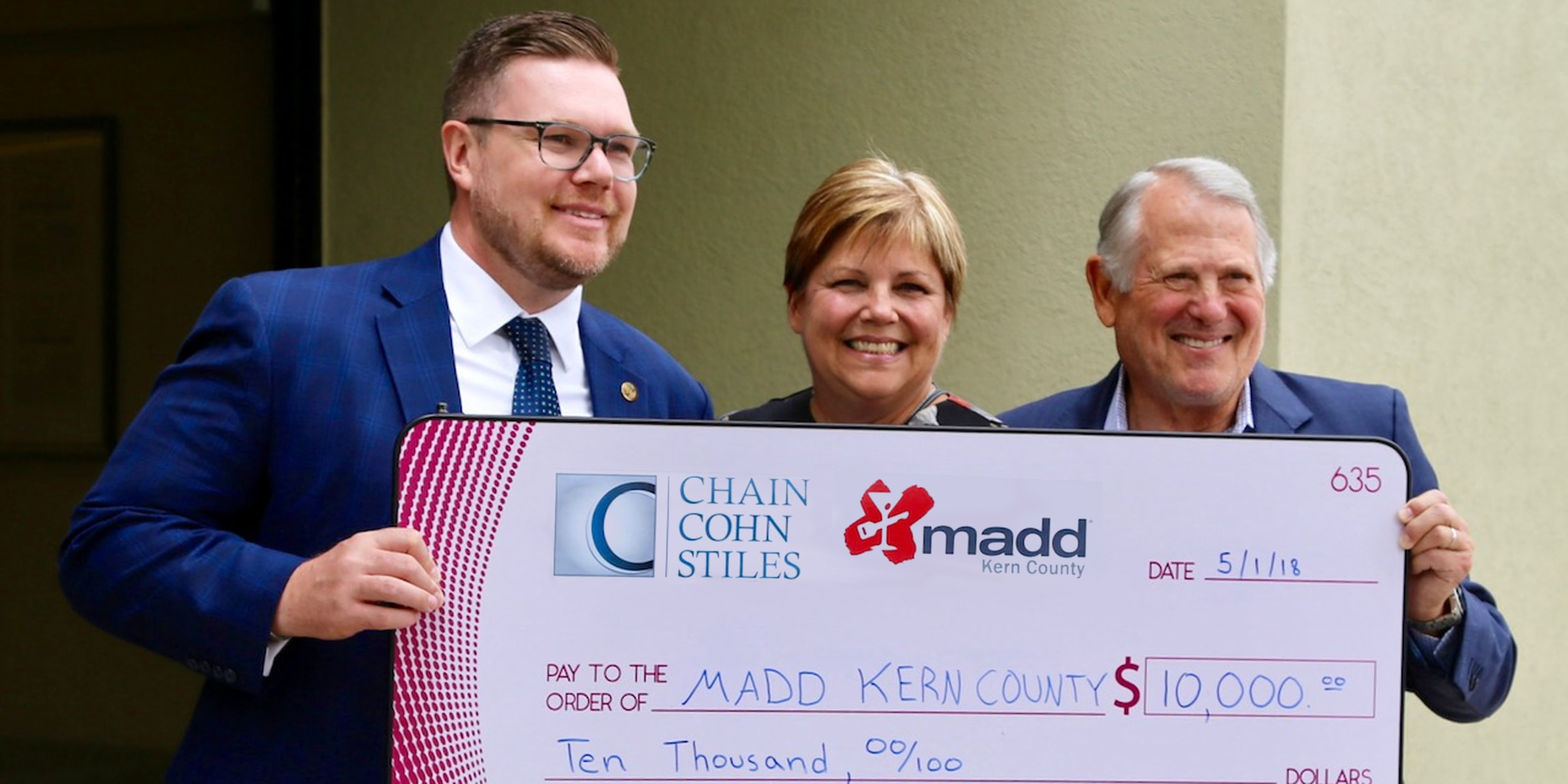 Chain | Cohn | Stiles 'gives big' to local nonprofits in Kern County's giving event